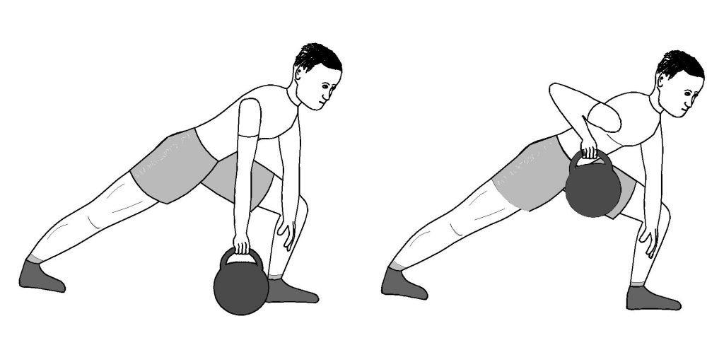 Упражнение гирей картинках