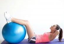 Упражнения на гимнастическом мяче