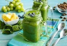 Меню на неделю по диете на зеленых смузи