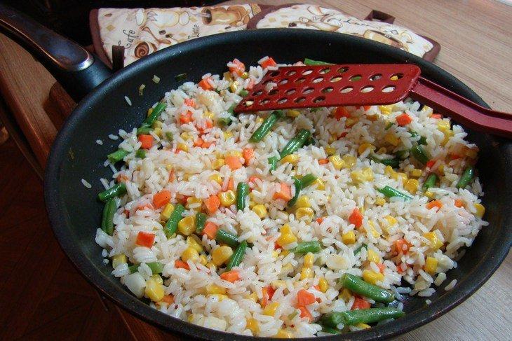 Блюда из риса и моркови