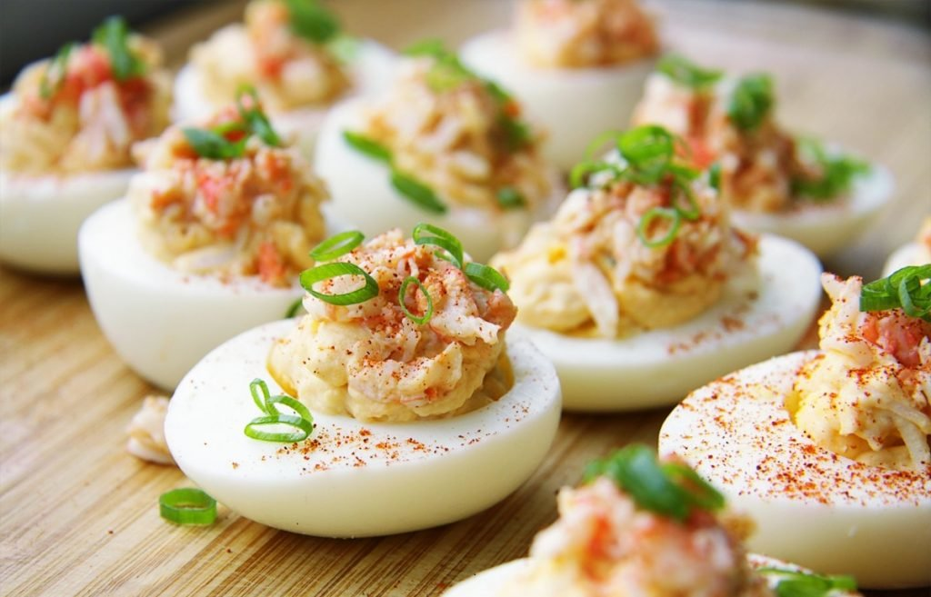Фаршированные яйца для похудения