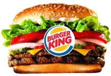 Таблица калорийности блюд сети питания Burger King