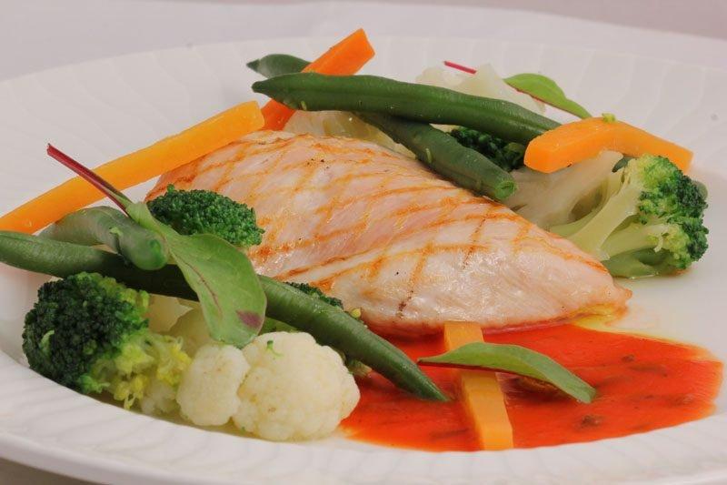 Диетическая курица с овощами.