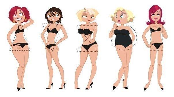 Типы женских фигур и похудение