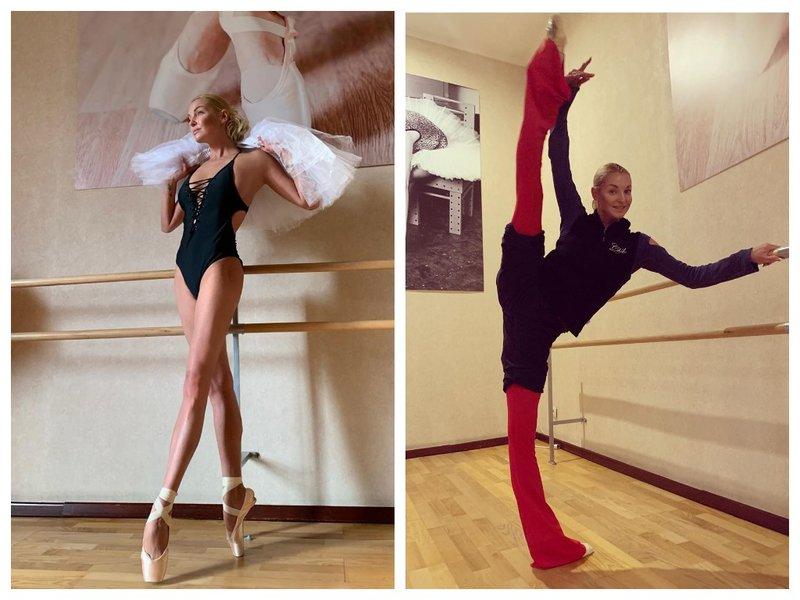 Анастасия Волочкова занимается балетом
