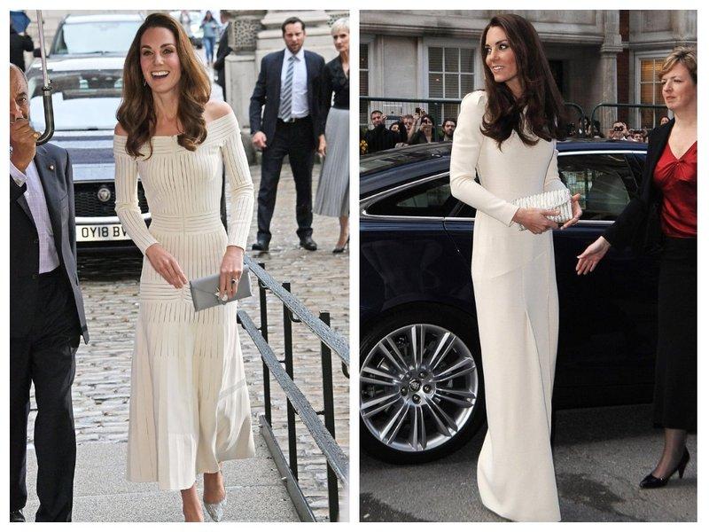 Кейт Миддлтон в белом платье