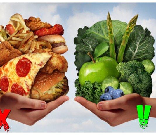 Полезная пища против вредной