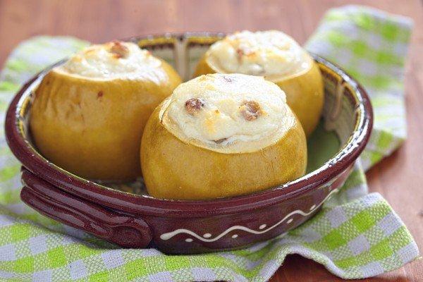 Печеные яблоки в духовке с творогом рецепт пошагово